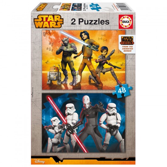 Puzzle 2 x 48 pièces : Star Wars Rebels - Educa-16168