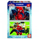 Puzzle 2 x 48 pièces : Ultimate Spider-Man
