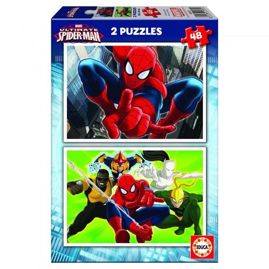Puzzle 2 x 48 pièces : Ultimate Spider-Man - Educa-15639