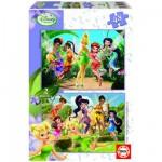 Puzzle 2 x 48 pièces - Disney Fairies