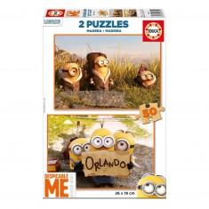Puzzle 2 x 50 pièces : Les Minions