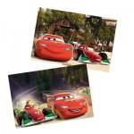Puzzle 2 x 50 pièces en bois : Cars