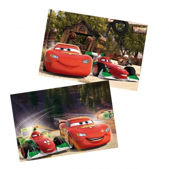 Puzzle 2 x 50 pièces en bois : Cars - Educa-16372