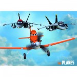 Puzzle 2 x 50 pièces en bois : Planes