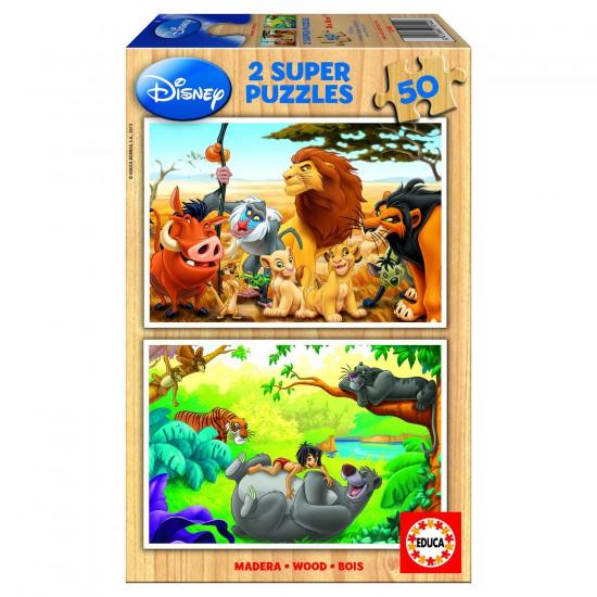 Puzzle 2 x 50 pièces - Mes amis animaux - Educa-13144