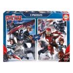 Puzzle 2 x 500 pièces : Captain America, Civil War