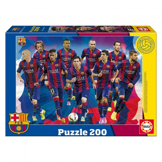 Puzzle 200 pièces : Futbol Club Barcelona 2014/2015 - Educa-16347
