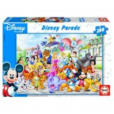 Puzzle 200 pièces - Disney Parade : Le défilé