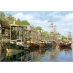 Puzzle 2000 pièces : Bateaux à quai