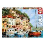 Puzzle 2000 pièces : La Barca Rossa Alla Calata