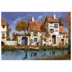 Puzzle 2000 pièces : La cascina sul lago, Guido Borelli