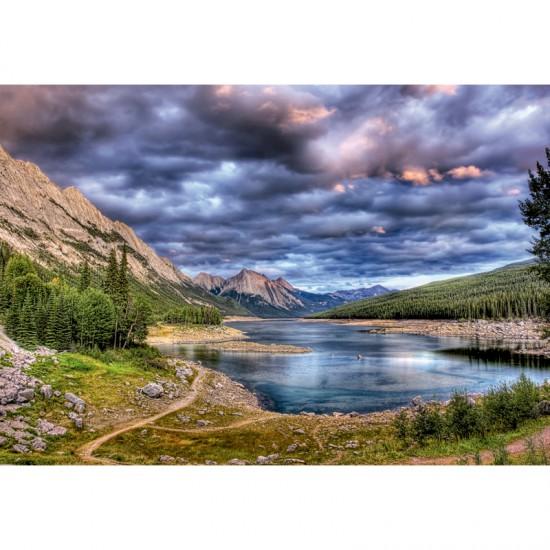 Puzzle 2000 pièces : Lac Medicine, Canada - Educa-16014