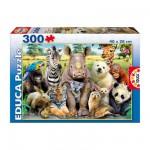 Puzzle 300 pièces : Animaux : Photo de classe
