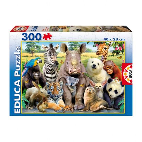 Puzzle 300 pièces : Animaux : Photo de classe - Educa-15908