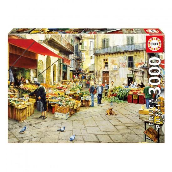 Puzzle 3000 pièces : La Vucciria Market, Palerme - Educa-16780