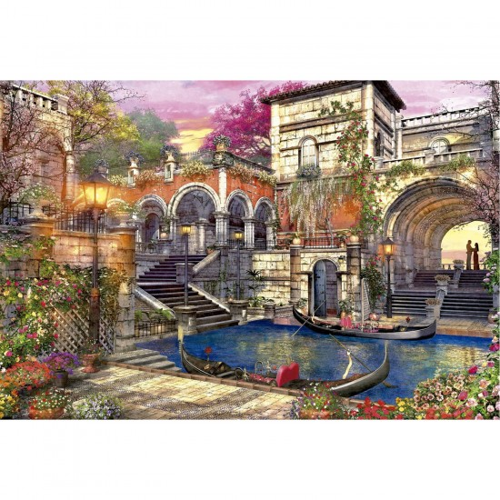 puzzle 3000 pi ces romance venise puzzle educa rue des puzzles. Black Bedroom Furniture Sets. Home Design Ideas