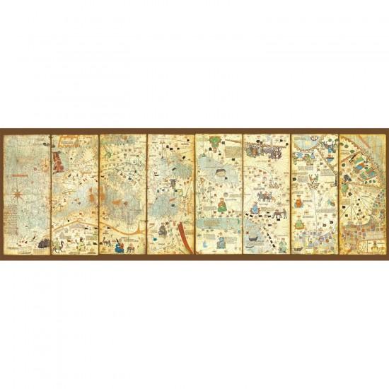 Puzzle 3000 pièces panoramique : Carte du monde 1375 : Cresques Abraham - Educa-16355