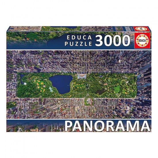 Puzzle 3000 pièces panoramique : Central Park, New York - Educa-16781