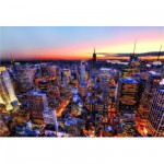 Puzzle 3000 pièces - Tombée du jour sur Manhattan, New York