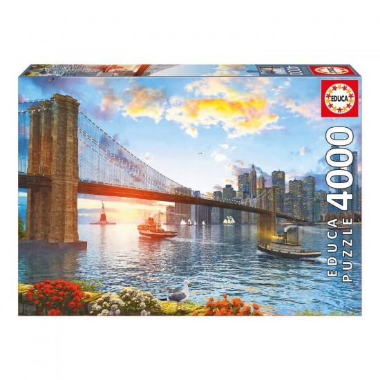 Puzzle 4000 pièces : Pont De Brooklyn - Educa-16782