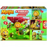 Puzzles de 6 à 16 pièces - 4 Puzzles : Maya l'abeille