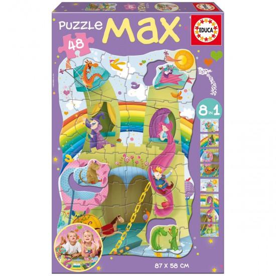Puzzle 48 pièces : 8 en 1 : Princesses et chevaliers - Educa-15902