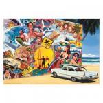 Puzzle 500 pièces : Alain Bertrand : Surf Mural