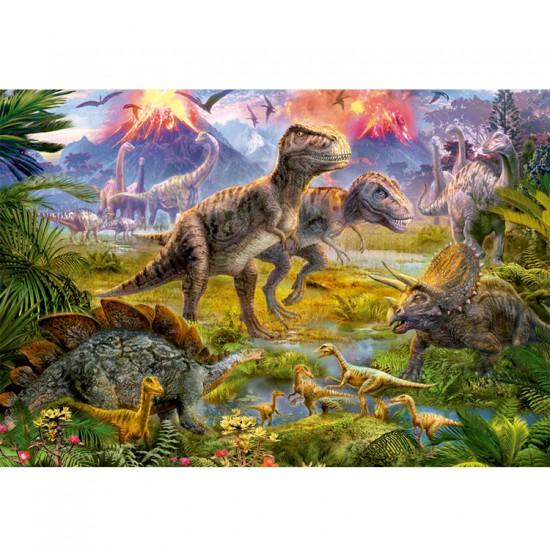 Puzzle 500 pièces : Au temps des dinosaures - Educa-15969