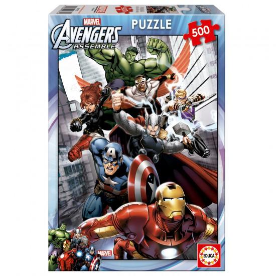 Puzzle 500 pièces : Avengers - Educa-15772