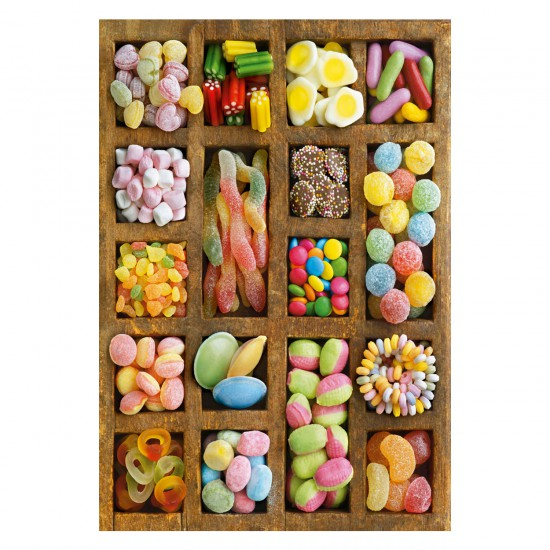 Puzzle 500 pièces : Collage Bonbons - Educa-15963
