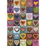 Puzzle 500 pièces : Collection de coeurs