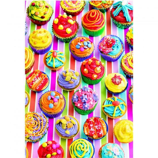 Puzzle 500 pièces : Cup Cakes de couleur - Educa-15549