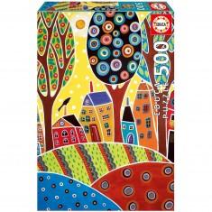 Puzzle 500 pièces : Houses Barn Landscape, Karla Gerard