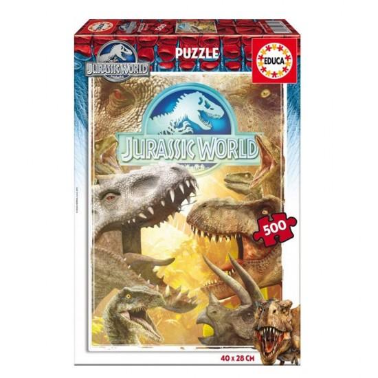 Puzzle 500 pièces : Jurassic World - Educa-16341