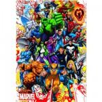 Puzzle 500 pièces : Les héros de Marvel