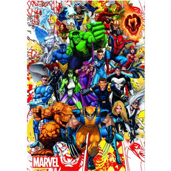 Puzzle 500 pièces : Les héros de Marvel - Educa-15560
