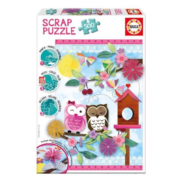 Puzzle 500 pièces : Scrap puzzle : Art de la Saint-Valentin - Educa-16739