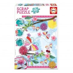 Puzzle 500 pièces : Scrap puzzle : Art du jardin