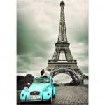 Puzzle 500 pièces - Embrassade sous la Tour Eiffel, Paris