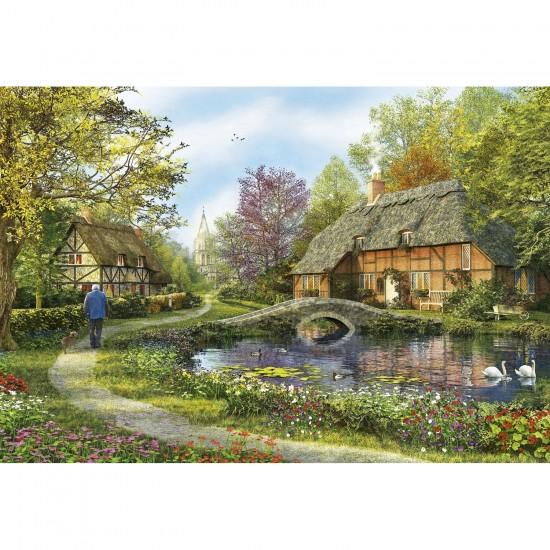 Puzzle 5000 pièces : Les chaumières fleuries - Educa-16356