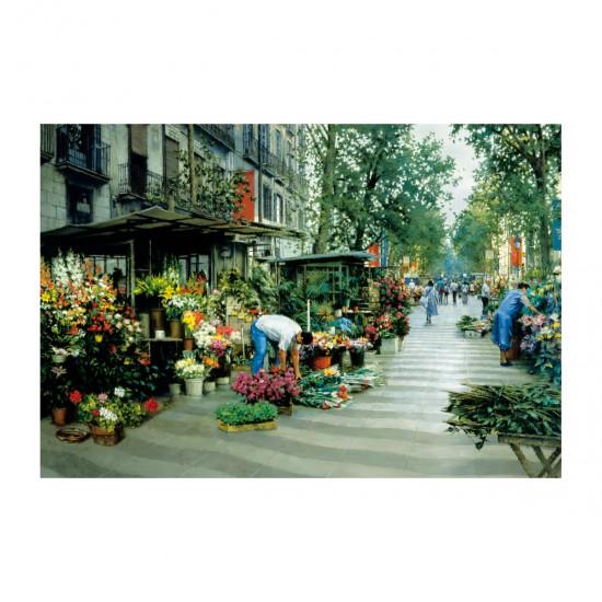 Puzzle 5000 pièces : Marché au fleurs, à Barcelone - Educa-16023