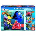 Puzzle de 12 à 25 pièces : 4 puzzles : Le monde de Nemo
