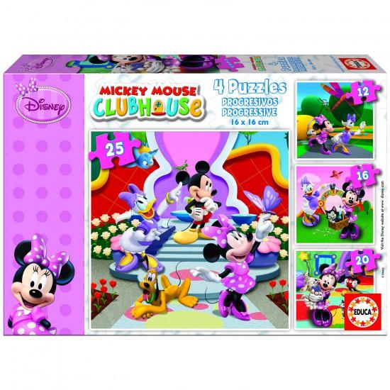 Puzzle de 12 à 25 pièces - 4 puzzles - Mickey et ses amis : Minnie - Educa-15134