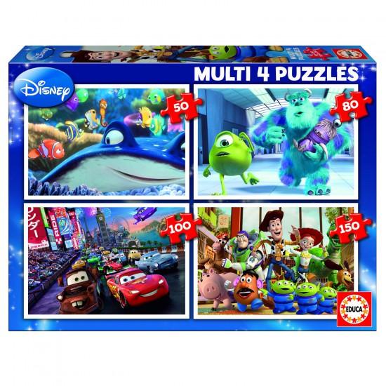 Puzzle de 50 à 150 pièces : 4 puzzles : Pixar - Educa-15615