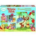 Puzzle de 6 à 16 pièces - 4 puzzles : Winnie l'Ourson