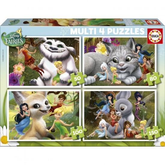 Puzzle évolutif 50 à 150 pièces : Disney Fairies - Educa-16350