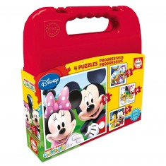 Puzzle progressif 12 à 25 pièces : Mickey et ses amis