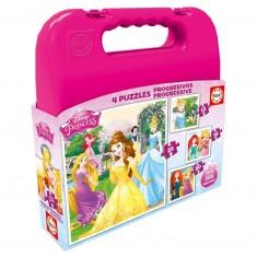 Puzzle progressif 12 à 25 pièces : Princesses Disney