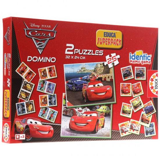 Superpack Cars 2 : Memory, puzzles et dominos - Educa-14927