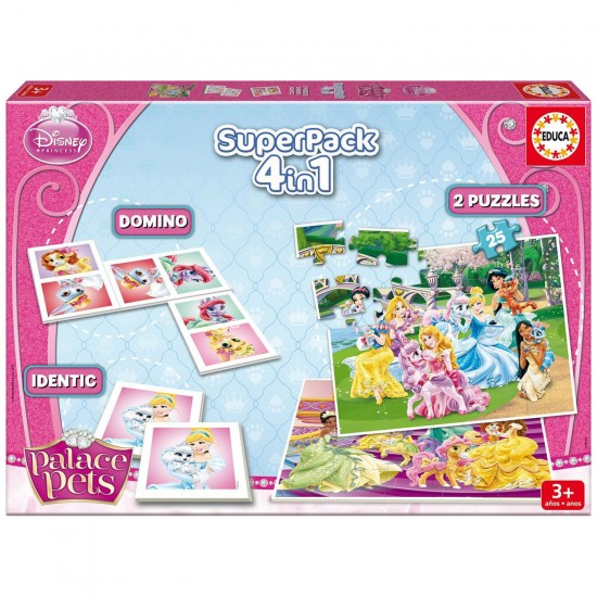 Superpack Palace Pets : Memory, puzzles et Dominos - Educa-16258